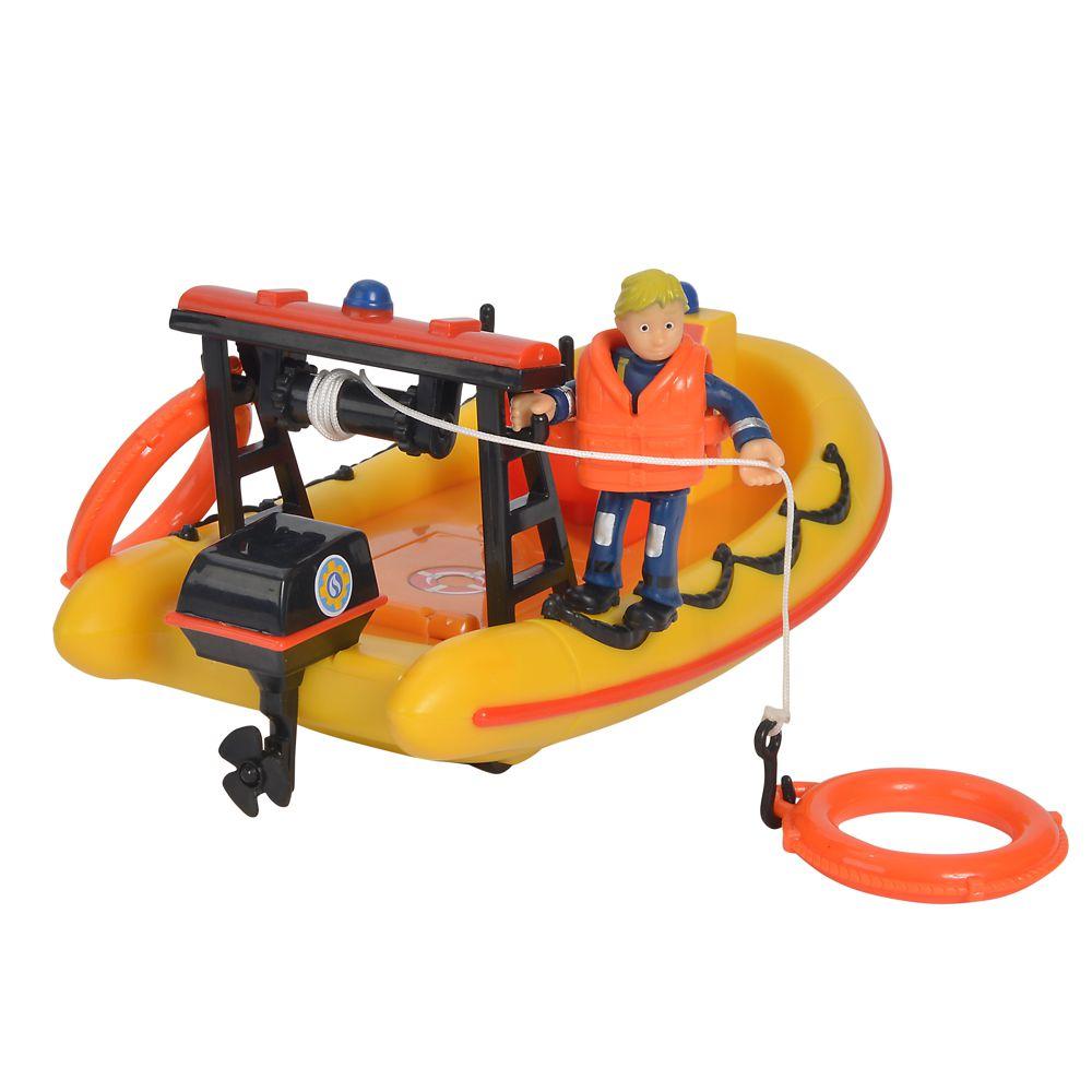 109251047 Simba Feuerwehrman Sam Neptune bateau avec personnage canot de sauvetage