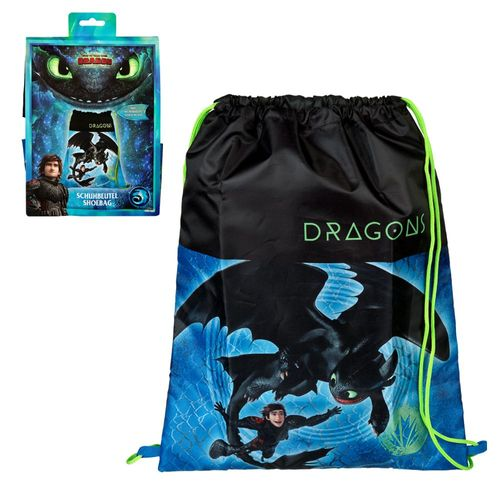 Sportbeutel | DreamWorks Dragons | Turnbeutel groß | 40 x 32 cm | Tasche Schule