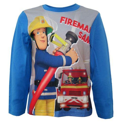 Jungen Langarmshirt | Feuerwehrmann Sam | Kinder Shirt | Größe 98-116 – Bild 3