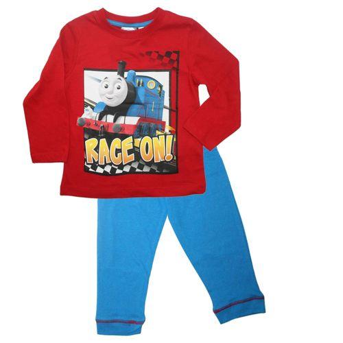 Jungen Pyjama | Größe 92 - 110 | Thomas & seine Freunde | Kinder Schlafanzug