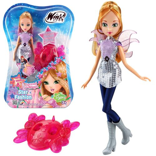 Flora | Star Fashion Puppe | Winx Club | Staffel 8 | Winx-Board mit Lichteffekt – Bild 1