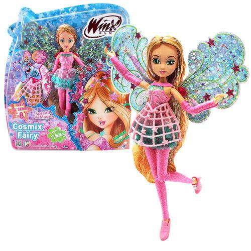 Flora | Cosmix Fairy Puppe | Winx Club | mit beweglichen holografischen Flügeln – Bild 1