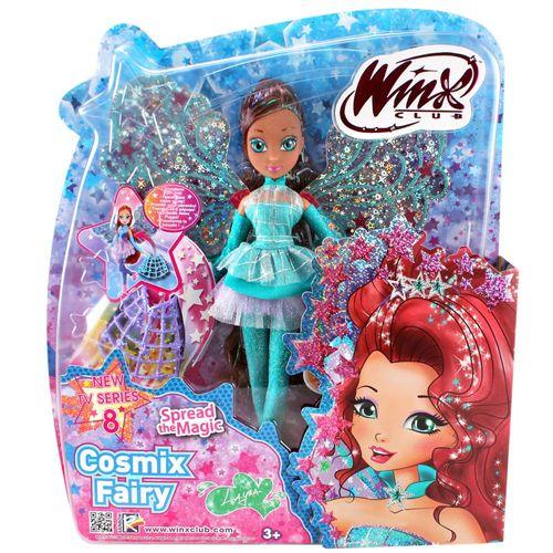 Layla | Cosmix Fairy Puppe | Winx Club | mit beweglichen holografischen Flügeln – Bild 4