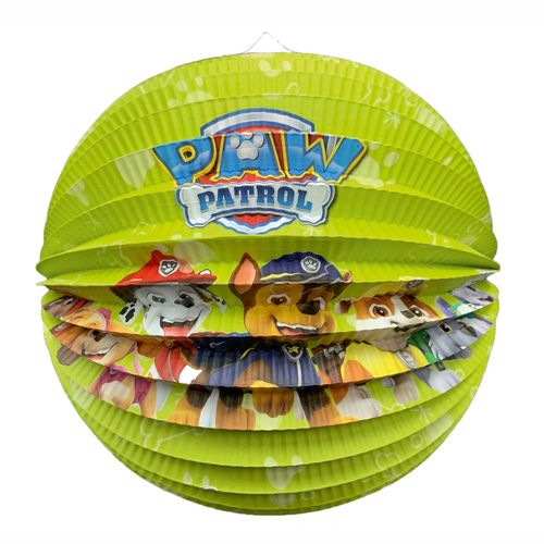 Lampion Team | rund 25 cm | Paw Patrol | Kinder Laterne | Dekoration Party