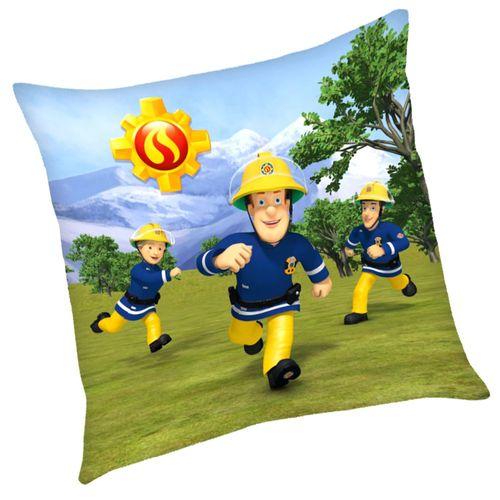 Im Einsatz | Kinder Kissen 40 x 40 cm | Feuerwehrmann Sam | Dekokissen – Bild 2