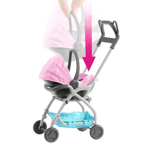 2 in 1 Kinderwagen | Barbie Babysitter | Mattel FXG95 | mit Baby Puppe – Bild 2