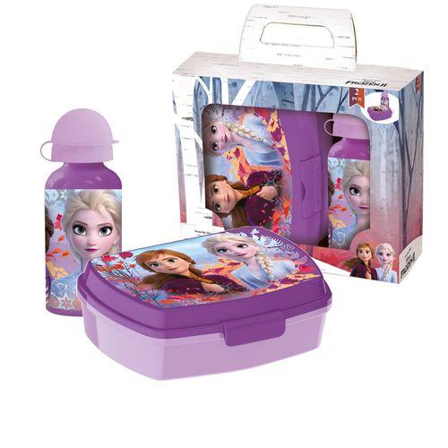 Brotdose mit Alu Trinkflasche   Disney Eiskönigin II   Frozen   Lunchbox Set – Bild 1