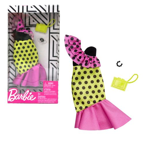 Multicolor Samba Kleid | Barbie | Mattel FXJ18 | Trend Mode Puppen-Kleidung