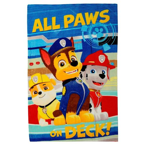 All Paw's on Deck! | Decke Fleece | 100 x 140 cm | Paw Patrol | Kuscheldecke – Bild 1