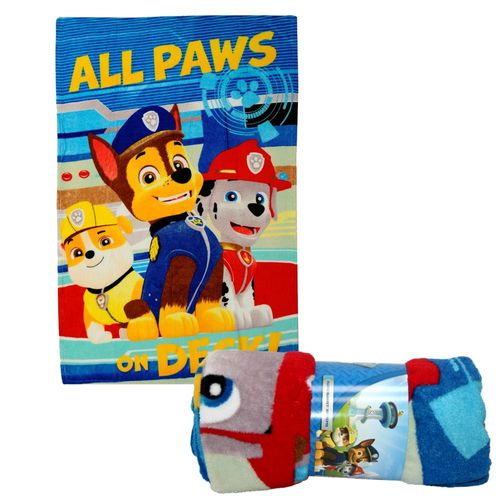 All Paw's on Deck! | Decke Fleece | 100 x 140 cm | Paw Patrol | Kuscheldecke – Bild 2