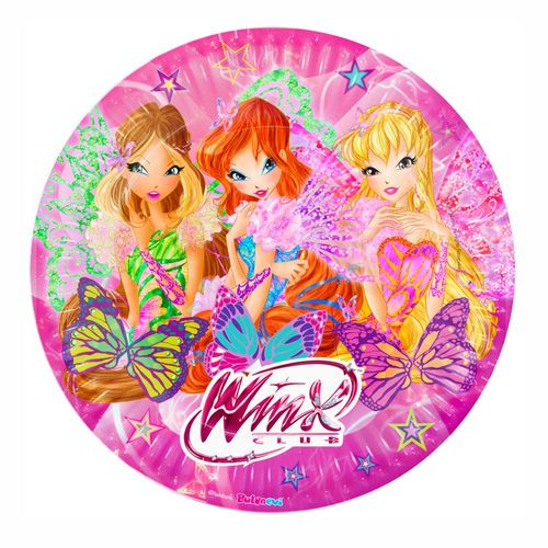 Set Party | Einweg-Geschirr | Winx Club | Butterflix | Teller Becher Servietten – Bild 2