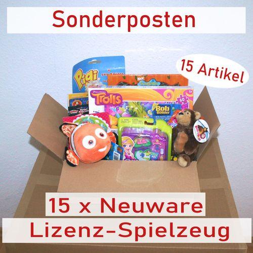 Großes Spielzeug Paket   15 Lizenzartikel   Restposten   Sonderposten   Neuware