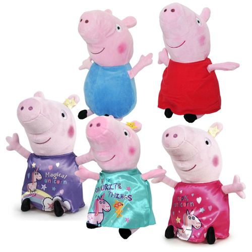 Auswahl Plüsch-Figuren 28 cm | Peppa Wutz | Peppa Pig | Softwool | Plüschtiere