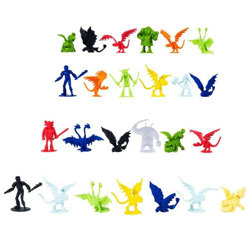 24-teiliges Drachen Set | DreamWork Dragons | Mini Spielfiguren | Battle Dragon – Bild 2