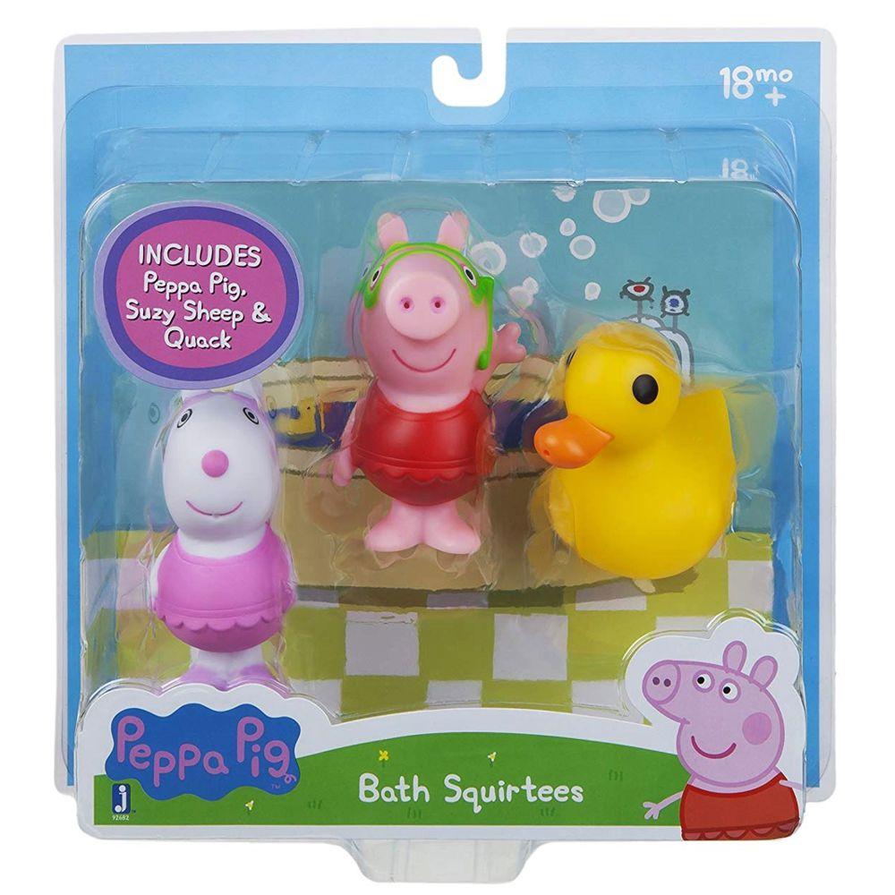 Suzy /& QuackBathing FunPeppa Pig3 Pack Figure Set Bath Squirters Peppa
