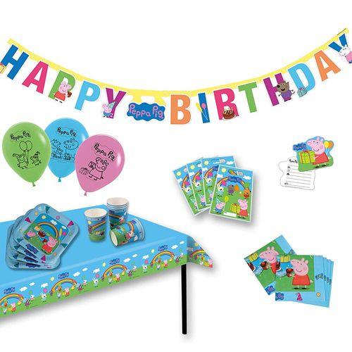 XXL Party Geburtstag Set | Peppa Wutz | Peppa Pig | Partykoffer 51 Teile – Bild 1