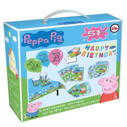 XXL Party Geburtstag Set | Peppa Wutz | Peppa Pig | Partykoffer 51 Teile – Bild 2