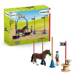 Pony Agility Rennen   Schleich   Sammelfiguren   Set Pferde   Farm World