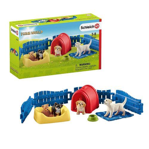 Welpenstube | Schleich | Sammelfiguren | Hunde-Welpen Set | Farm World – Bild 1