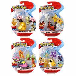 Auswahl Battle Figuren | 3er Set | Pokemon | Action Spielfiguren zum Sammeln