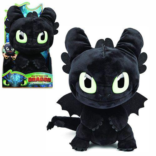 Plüschfigur Ohnezahn mit Sound | DreamWorks Dragons | Squeeze & Roar Toothless – Bild 1