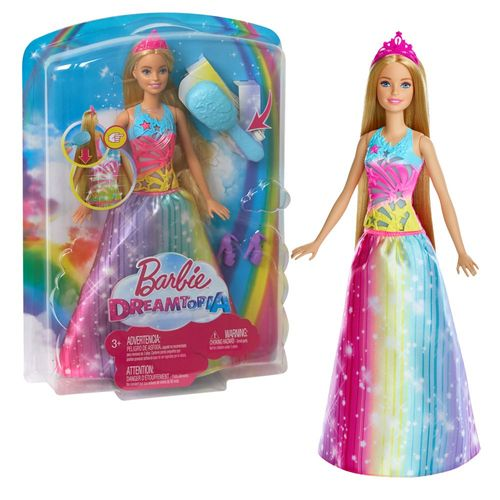 Barbie Dreamtopia | Mattel FRB12 | Magische Regenbogen Haarspiel Prinzessin – Bild 1