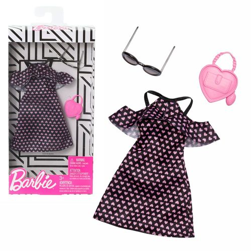 Cold Shoulder Herzkleid | Barbie | Mattel FXJ16 | Trend Mode Puppen-Kleidung