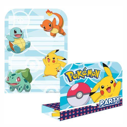 Einladungskarten | 8 Stück | Pokemon | Kinder Party Geburtstag