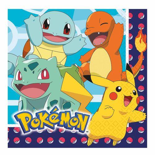 Servietten | 16 Stück | Pokemon | 2-lagig | Party Kinder Geburtstag