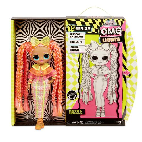 Dazzle | L.O.L. Surprise | O.M.G. Neon Light Doll | LOL Fashion Puppe Gelb – Bild 2