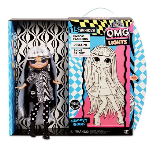 Groovy Babe | L.O.L. Surprise | O.M.G. Neon Light Doll | LOL Fashion Puppe Blau – Bild 2