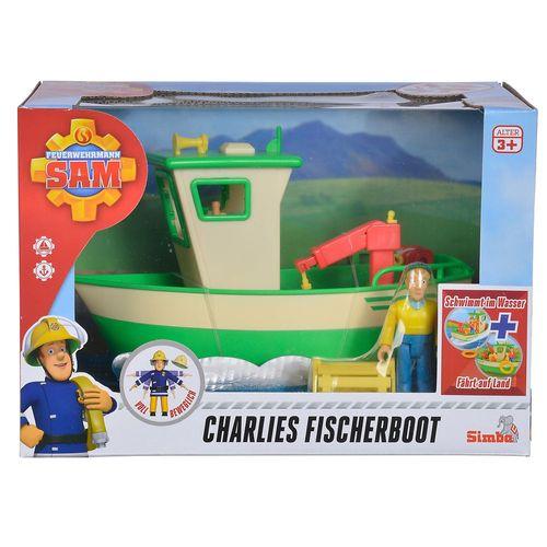 Charlies Boot | Feuerwehrmann Sam | Spielset mit Charlie Figur & Zubehör – Bild 1