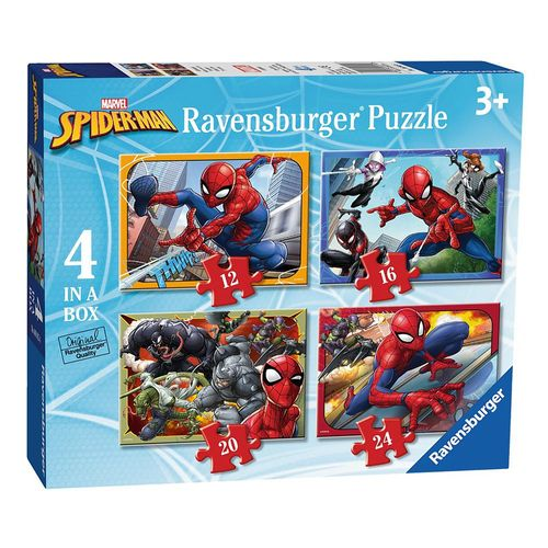 4 in 1 Puzzle Box | Spiderman | Marvel | Ravensburger | Kinder Puzzle – Bild 1