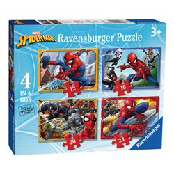 4 in 1 Puzzle Box | Spiderman | Marvel | Ravensburger | Kinder Puzzle 001