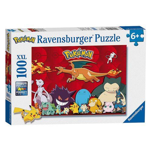 Puzzle XXL | 100 Teile | Pokemon | Ravensburger | Pikachu, Relaxo, Evoli – Bild 1
