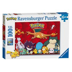 Puzzle XXL   100 Teile   Pokemon   Ravensburger   Pikachu, Relaxo, Evoli