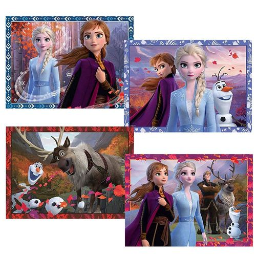 4 in 1 Puzzle Box | Disney Frozen II Eiskönigin | Jumbo | Kinder Puzzle – Bild 2