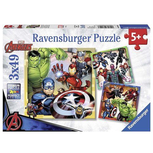 Kinder Puzzle Box | Marvel Avengers | 3 x 49 Teile | Ravensburger | Superhelden – Bild 1