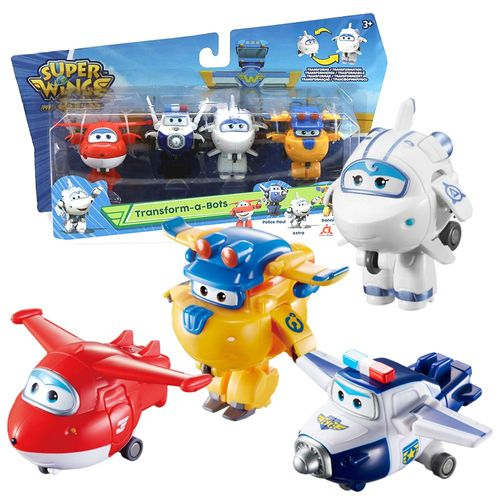 Flugzeuge Jett, Paul, Astra & Donnie | Super Wings | Set Mini Transform – Bild 1
