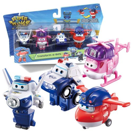 Rettungsteam Jett, Paul, Kim & Dizzy | Super Wings | Set Mini Transform – Bild 1