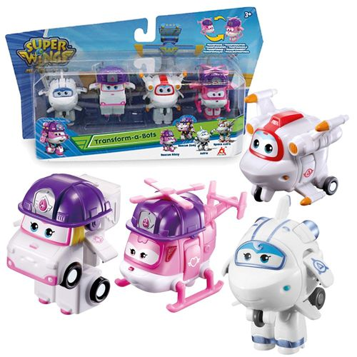 Flugzeuge Zoey, Astra, Space Astro & Dizzy | Super Wings | Set Mini Transform – Bild 1