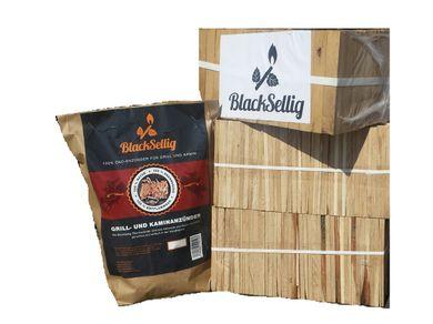 24 Kg Anfeuerholz perfekt trocken und sauber + 50 Stück Bio Anzünder von BlackSellig- versandkostenfrei