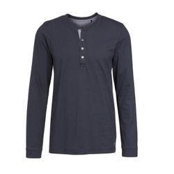 Marc O'Polo Herren Langarm Henley-Shirt 1er Pack