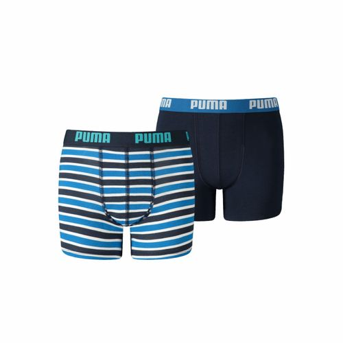 Puma Junior Boys Boxershort Basic Boxer Printed Stripe 2er Pack