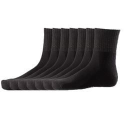 DAILYSOXX Unisex Short Crew Socken Everyday mit Frotteesohle 7er Pack