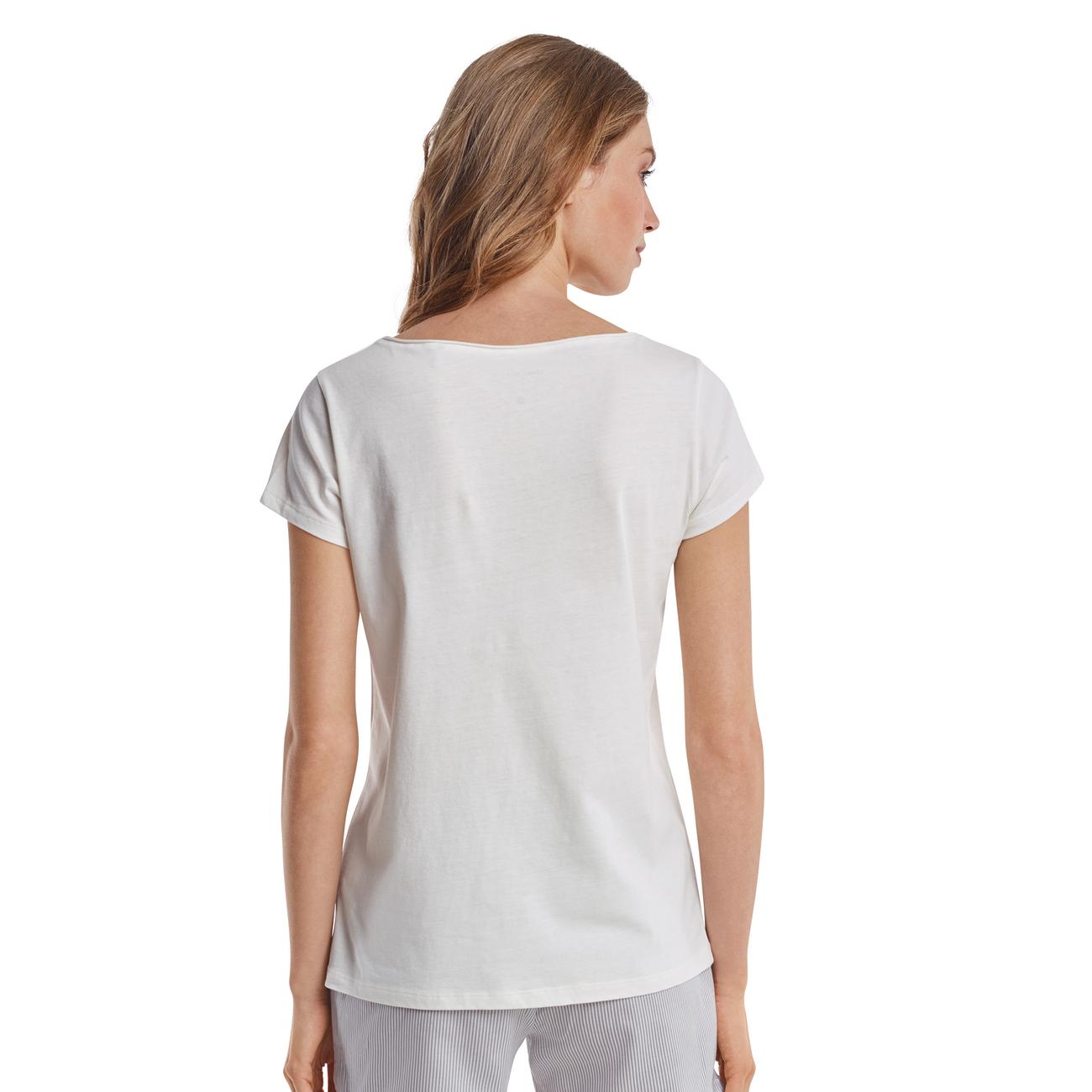 734005b02c34ad Marc O'Polo Damen T-Shirt Crewneck Offwhite 1er Pack