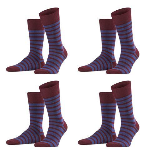 Falke Herren Socken Even Stripe 4er Pack