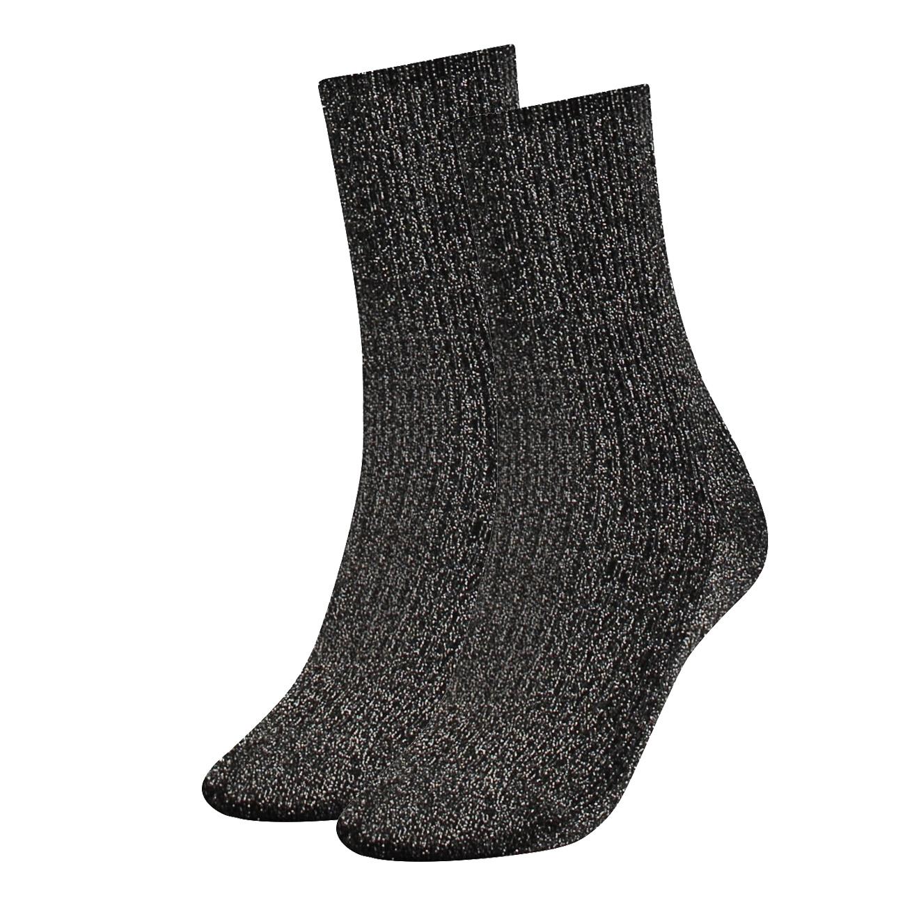 Damen Rosa Glitzer Socken