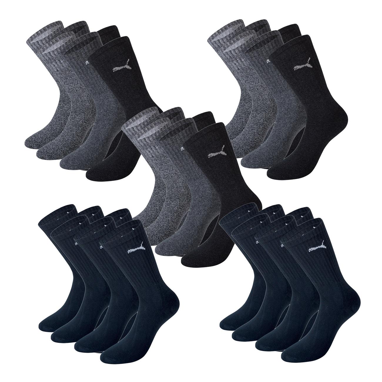 Puma Unisex Crew Socken Basic Sportsocken 15er Pack