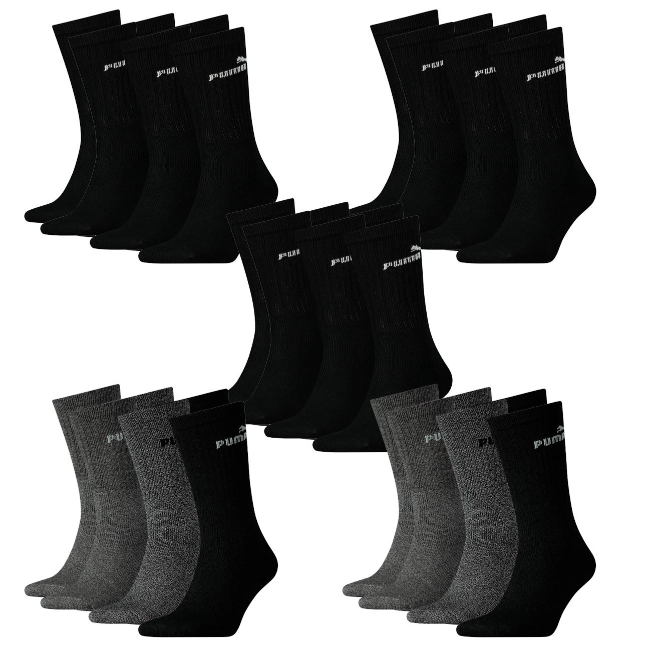 2 x 2er Pack Puma Herren Socken Classic 43-46 schwarz